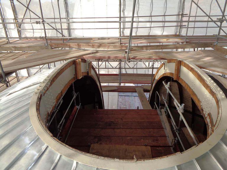 Fassadengerüste gebaut von Reiwand und Lobenstein Gerüstbauer
