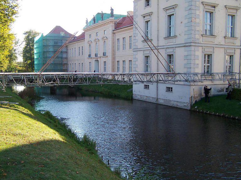 Arbeitsgerüst über Wasser Reiwand und Lobenstein