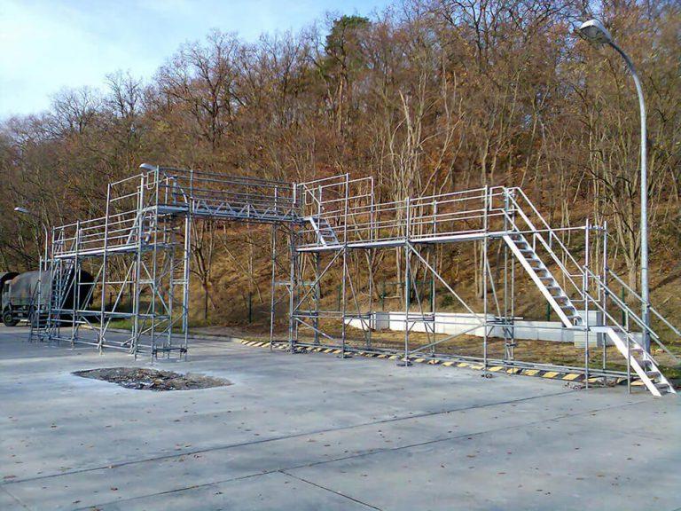 Bühnen und Tribuenen Gerüstbau gebaut von Reiwand und Lobenstein in Potsdam