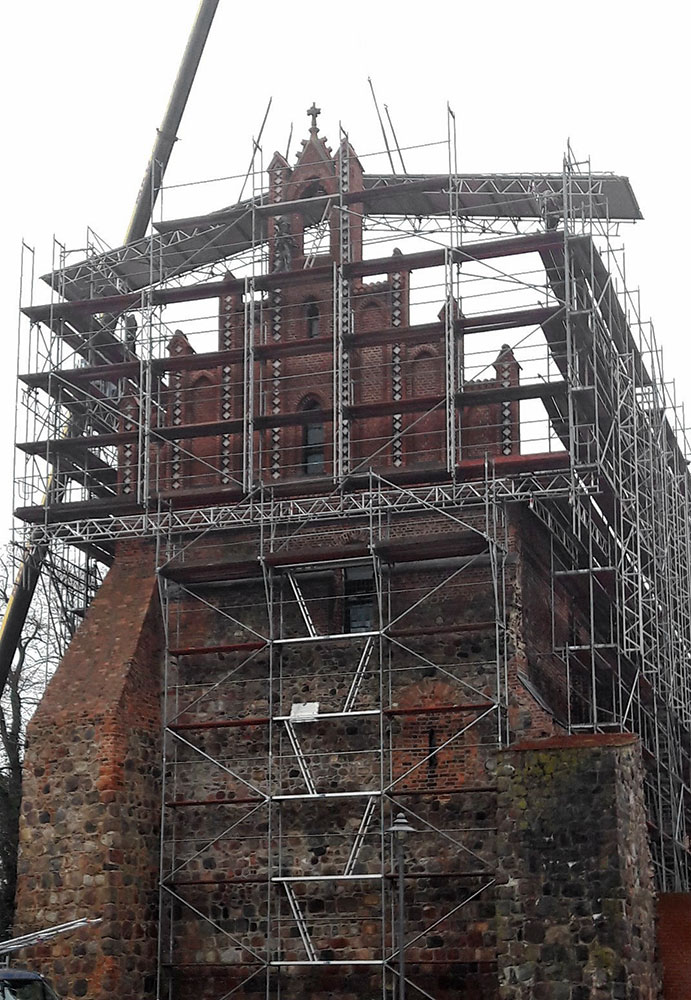 Ziesar Fassadengerüste von Reiwand und Lobenstein